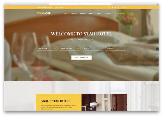 thiết kế web khách sạn đẹp