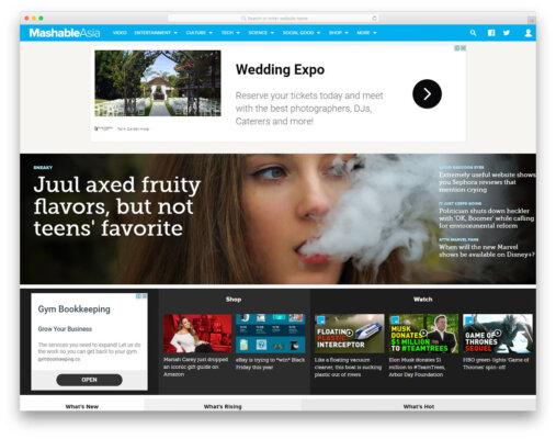 thiết kế trang web tin tức